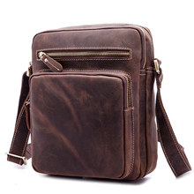 NEWEEKEND Genuine Leather Mens Bags Small Shoulder Messenger Crossbody Casual Flap iPad Bag Case for Man 9349