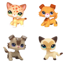 Real pet shop lps toys Kitty Tan Brown Spotted Leopard Cat 852 Blue Eyes Puppy Dog