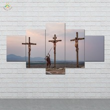 Jesus HD Printed 5 Pieces/set Wall Art Paintings Picture Print on Canvas for Home Decoration Living Room
