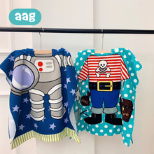 AAG Baby Receiving Blanket Children Beach Towel Cartoon Hooded Cloak Kids Bath Towel Swimming Blankets Boys Girls Beachwear 20 цены
