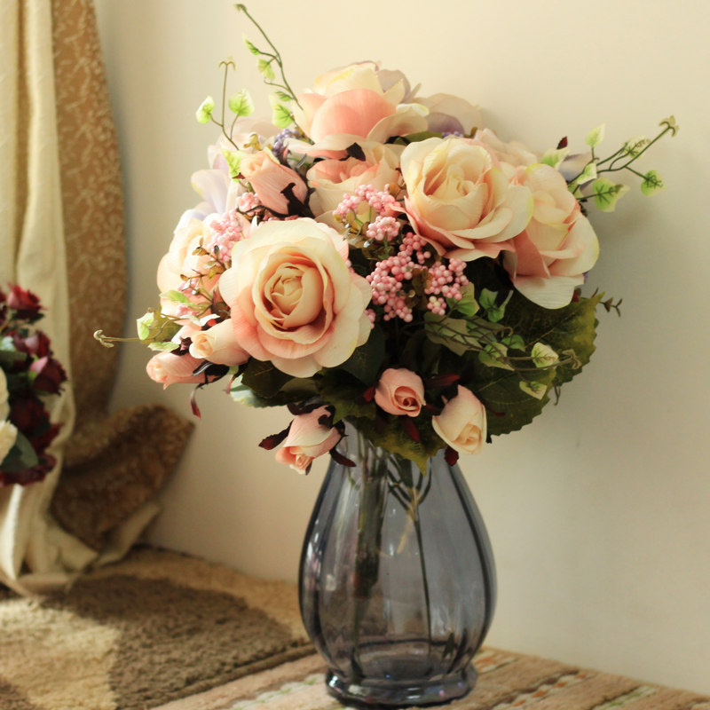 Wedding Flowers By Price: 50pcs/Lot Wholesale Price New Beautiful Large Roses Bunch