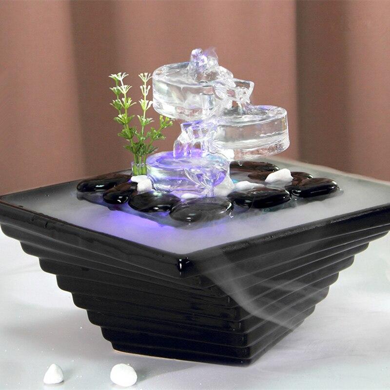 เซรามิค/แก้วน้ำ Fountain Indoor Desktop Air Humidifier Fengshui เครื่องประดับตกแต่งบ้าน-ใน รูปแกะสลักและรูปจำลอง จาก บ้านและสวน บน   3