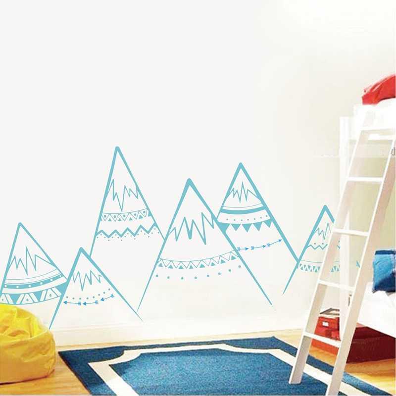 הרים שבטיים קיר מדבקות Sacndinavian משתלה ויניל קיר מדבקות חדר ילדים דקור