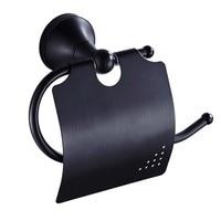 Современные чисто черный Туалет Бумага держатель туалетной бумаги Бумага Rack держатель ткани Ванная комната Бумага хранения Полки Бумага в...