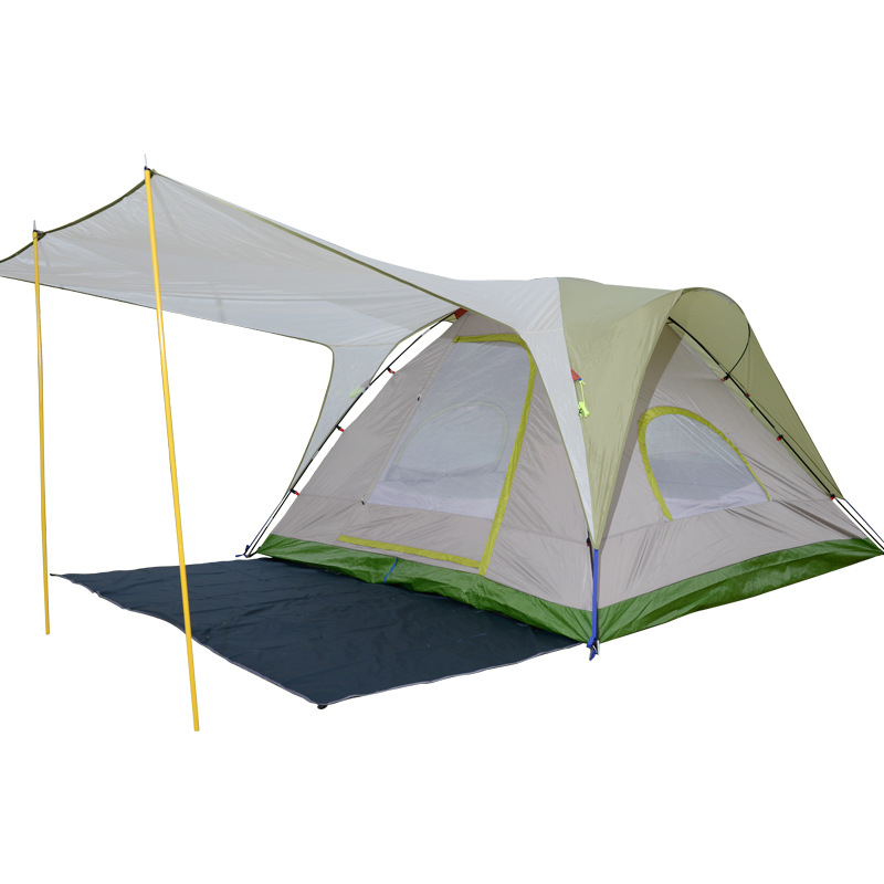 Wnnideo 2 Person Outdoor Tent Double Layer Automatic Double Bedroom Waterproof Canopy Available