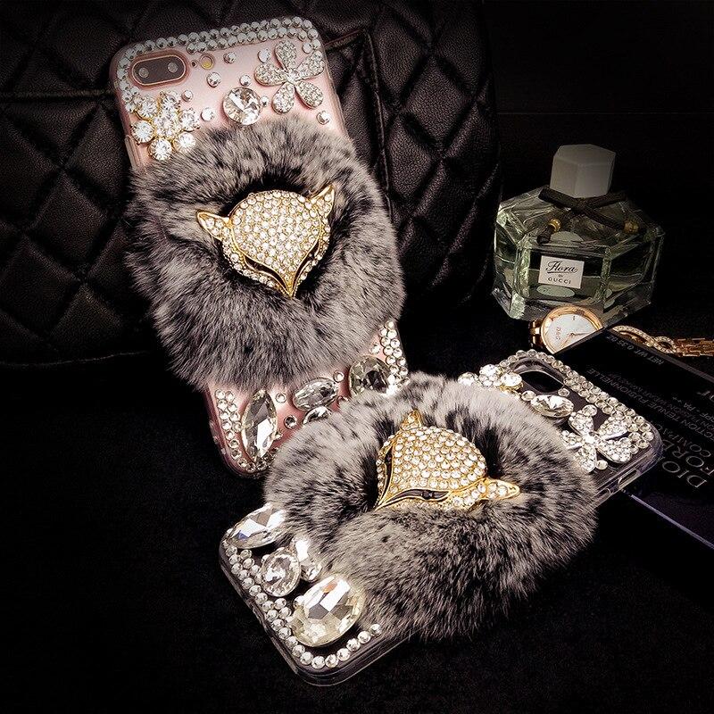 YESPURE Fancy Fox Fur Phone Cover för Iphone 6 6s Luxury Women - Reservdelar och tillbehör för mobiltelefoner - Foto 5