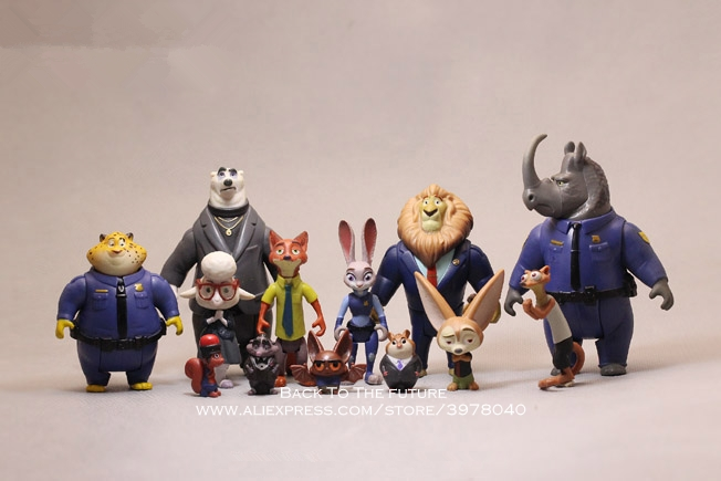 Disney Zootopia Nick Fox Judy Rabbit 3-11cm Action Figure Decoration PVC Doll Collection Figurine Toys Model For Children Gift