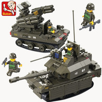 Sluban B0289 Army Armored Vehicles DIY Model Building Blocks Bricks Toys For Children Gift Compatible With