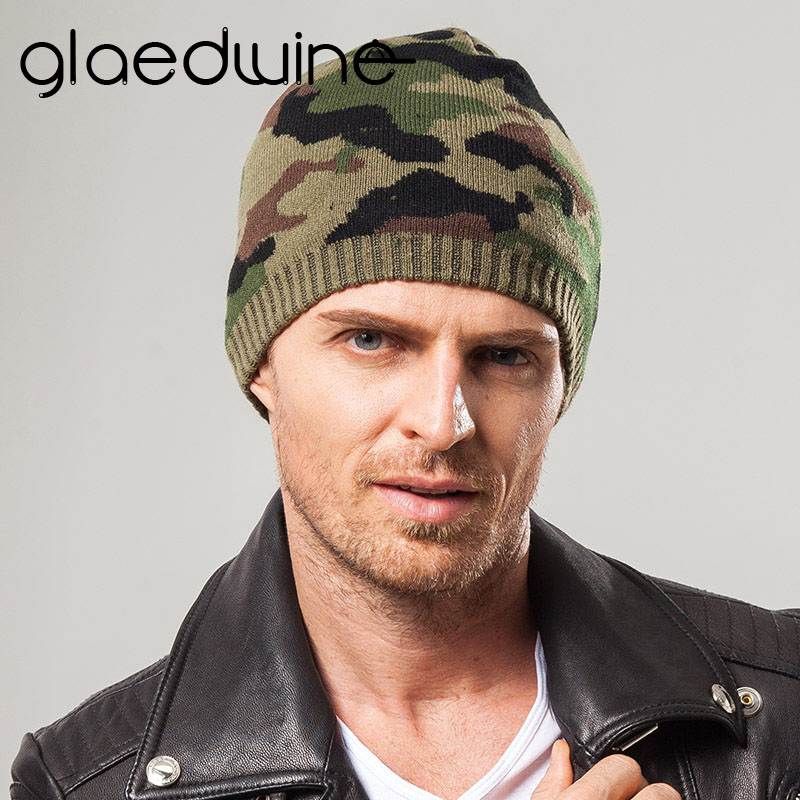 Glaedwine Brand Knit Men Winter Camouflag Hats For Men Women Bonnet Beanies Skullies Caps Winter Hat Cap Balaclava Beanie Gorros brand beanies knit men s winter hat caps skullies bonnet homme winter hats for men women beanie warm knitted hat gorros mujer