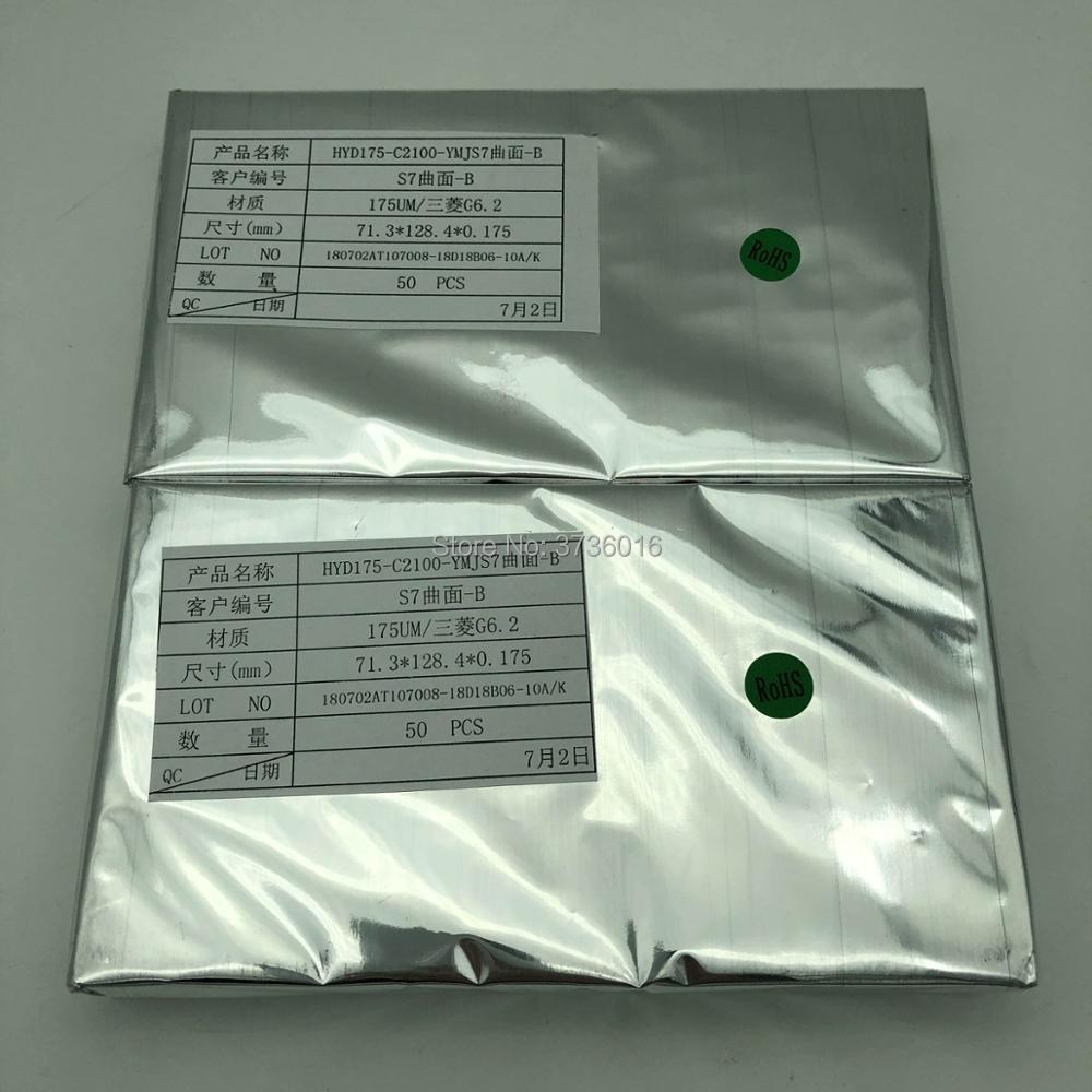 50 teile/beutel hohe qualität OCA film für samsung S7 rand Lcd touch screen effiziente laminieren nicht rückkehr blase 175um dicke