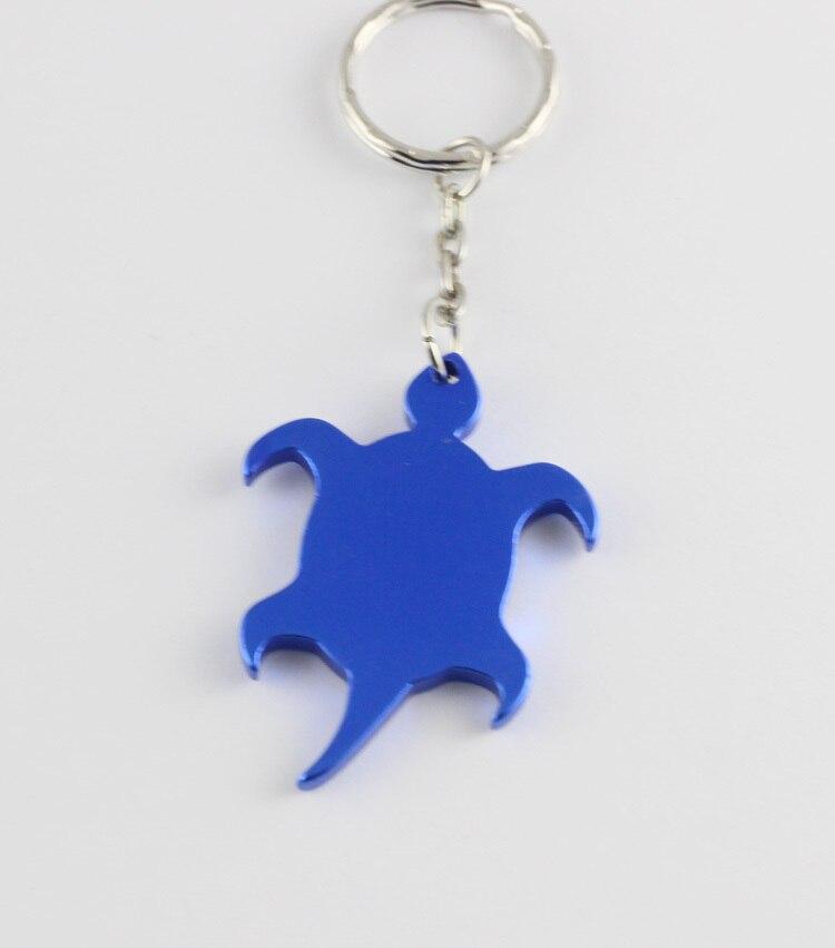 72 pcs lot Turtle shaped Aluminum alloy key chain can bottle opener make logo gift