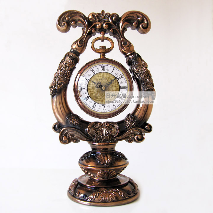 European Luxury Watches Pendulum Clock Desktop Clock Desk