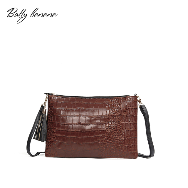 d716944b8f6b BATTY BANANA Messenger Bag Womens Clutch Fashion Female Bag Tassel Cross  Body Designer Handbags Woman Leather