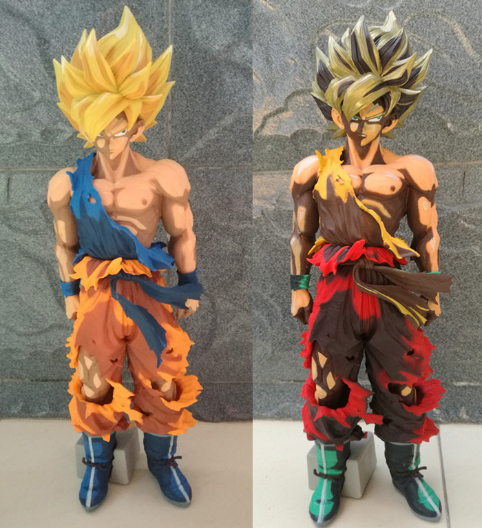 ФОТО Hot Sale  Dragon Ball SMSP Super Master Stars Piece Super Saiyan Son Goku Gokou Special Color 33CM Huge Figure