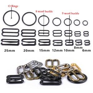 Image 1 - Hebillas de ajuste de correa de sujetador de Metal/Plástico, anillos deslizantes para ropa interior, Clips para ajuste de lencería, accesorios DIY, 20 Uds. 6mm ~ 25mm