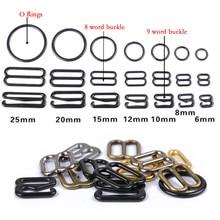 Sangle de soutien gorge en métal/plastique, Clips pour sous vêtements, 6 à 25mm, 20 pièces