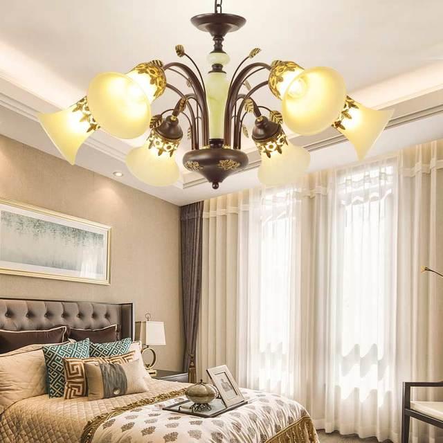 Vintage Chandelier Glass Lampshade Light Fixtures Lustre Living Room Bedroom  Foyer Loft Decor For Home Lighting E27 110 220V