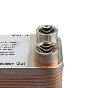 Image 5 - 30 Plates Wort Heat Exchanger Stainless Steel Wort Chiller,Brewing Cooling Counterflow Clooler For Homebrew Beer Tools 1/2NPT