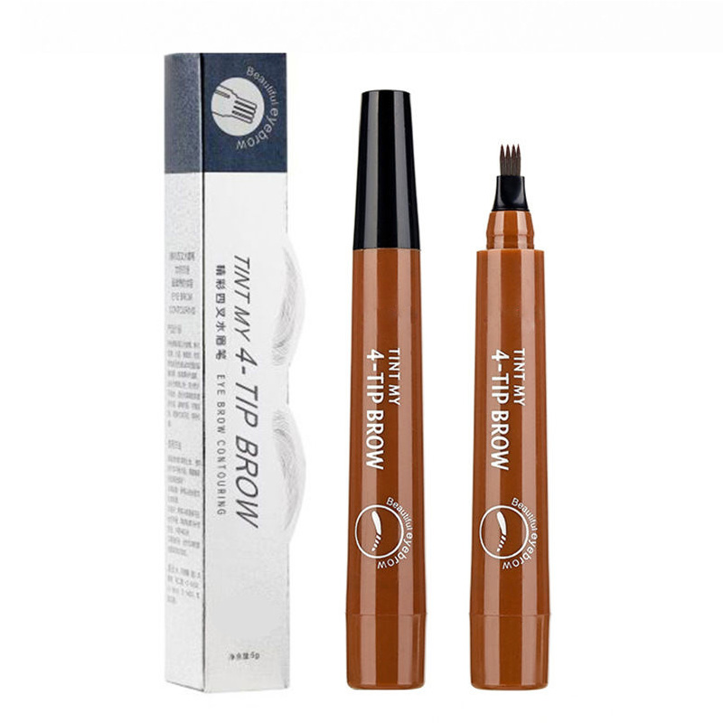 4 Arrow Heads Microblading Liquid Eyebrow Pencil Waterproof Sharp Tips Eye Brow Pencils Liner Beauty Makeup Tools for Women