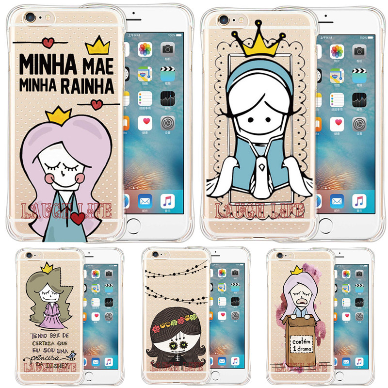 Armor Shock Proof Ghost Case for iPhone SE 5S 6 6S 6Plus 6S Plus Cartoon Ghost design with Portuguese Sentences Back Cover