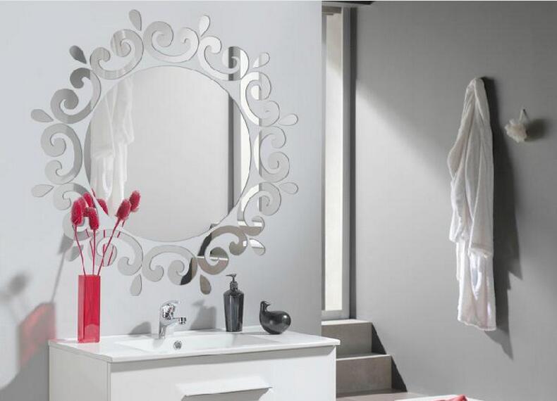 Us 2138 Diy Lustro Akrylowe Laciness 3d Trójwymiarowe Naklejki ścienne Sieni Oświetlenie Sufitowe Okrągłe Lustro Dekoracje Home Decor W Naklejki