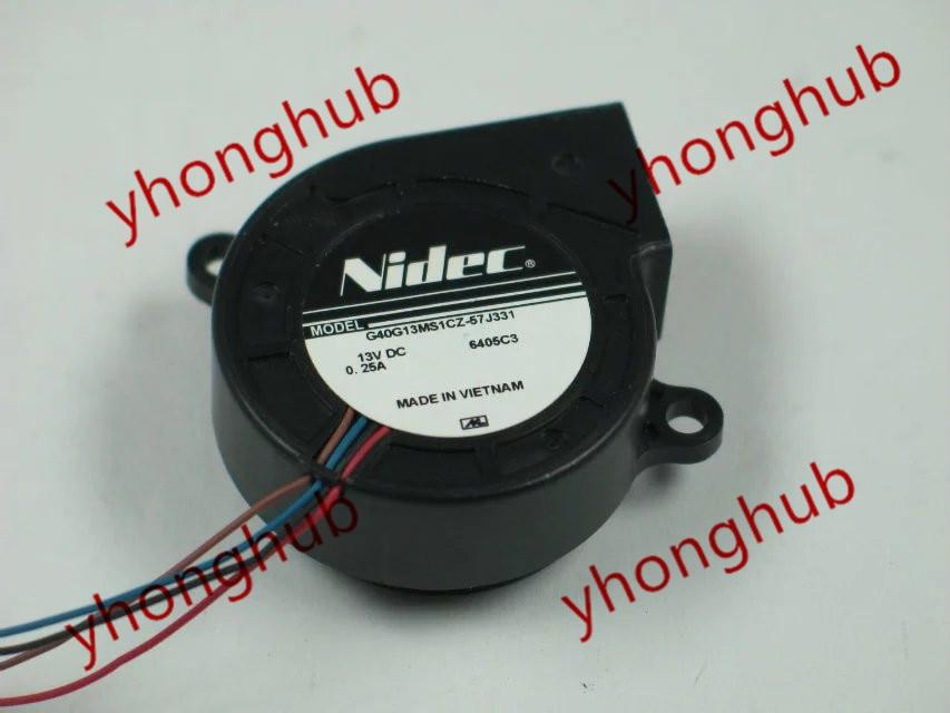 Frss shipping for NIDEC G40G13MS1CZ-57J331 DC 13V 0.25A 4-wire 4-pin Server Blower fan мужские часы слава 1049555 2035