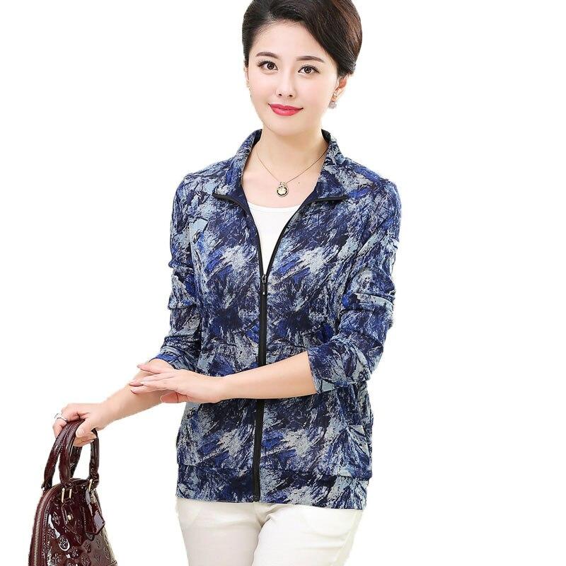 Femmes décontracté Zipper Top 100% Pure soie tricot maille Pure imprimé Cardigan à manches longues haut Outwear taille L XL XXL XXXL - 3