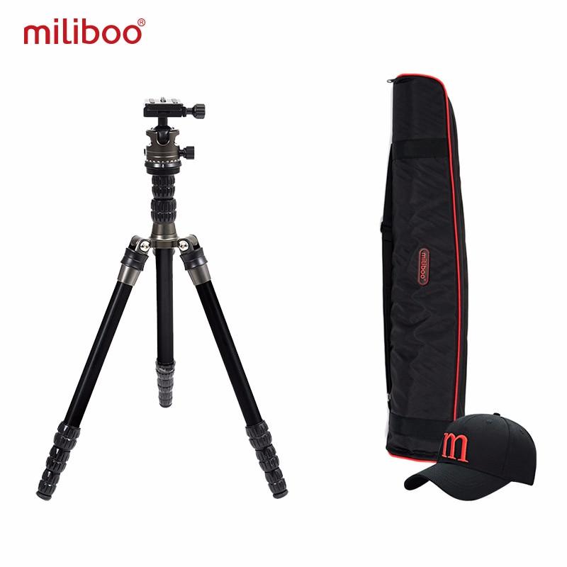 Miliboo MEA Promoção de Viagem leve Mini Câmera Portátil Tripé com Cabeça de Bola De Carbono De Alumínio