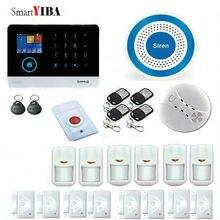 SmartYIBA WIFI 3G WCDMA GPRS Burglar Alarm System Wireless Smart House Security APP Remote Control Smoke