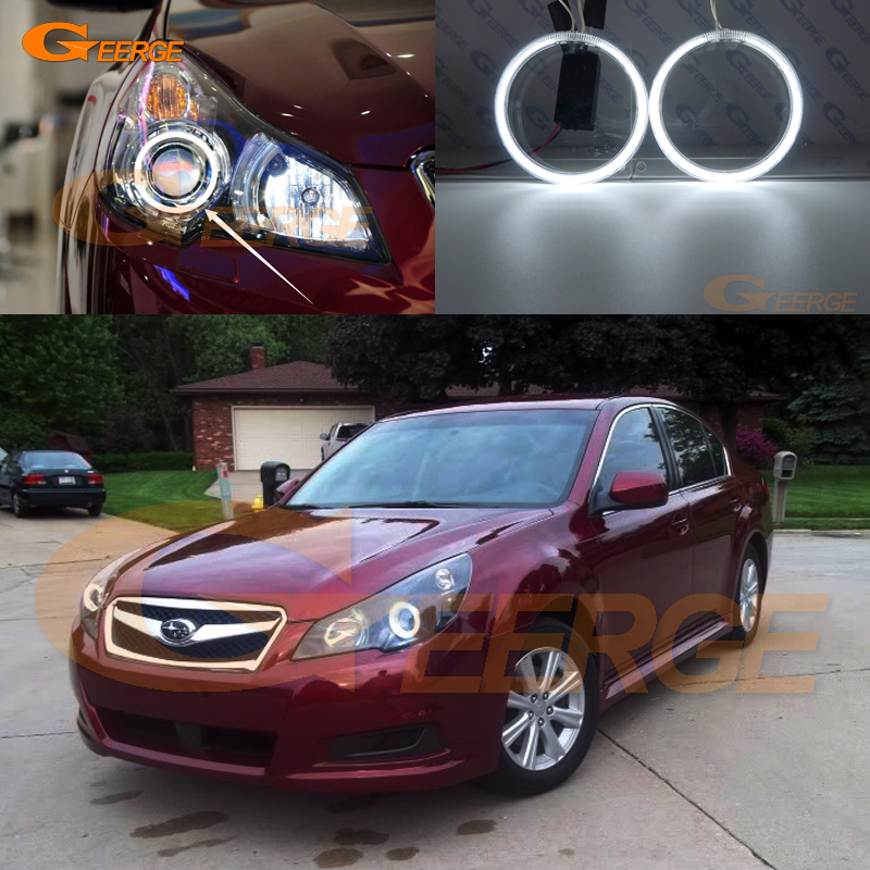 For Subaru Legacy Outback 2010 2011 2012 Headlight Excellent Ultra Bright Illumination CCFL Angel Eyes Halo Ring Kit