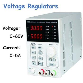 Цифровой стабилизатор напряжения прецизионный Регулируемый 60В 5А DC Линейный источник питания Цифровой Регулируемый лабораторный класс