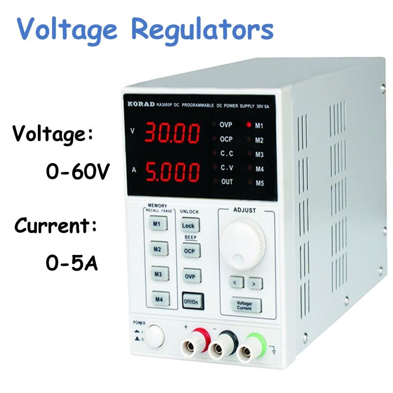 Digital Voltage Stabilizers Precision Variable Adjustable 60V, 5A DC Linear Power Supply Digital Regulated Lab Grade KA6005D