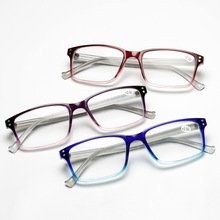 2019 Leesbril New Old-fashioned Glasses, Square Reading Glasses For And Women, Delicate Upper Lower Color The Elderly 6907