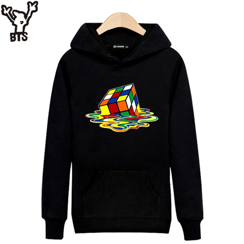 Melted Cube Funny Tracksuit Mens Hoodies And Sweatshirt With Hoodies Men Streetwear Style Men Clothing Roupas Men's Clothing