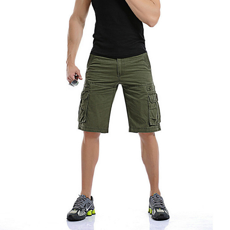 ROBO Mens Casual Slim Fit Cotton Multi-Pocket Outdoor Cargo Camouflage Shorts