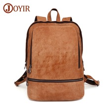 JOYIR Genuine Leather Men Backpack Large Capacity Backpack Fashion Male Rucksack School Bag New Design Men 15.6