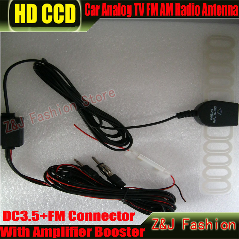 New Selling Car Analog Antenna Car TV antenna with built-in signal amplifier Car TV antenna Car Analog DC3.5+FM Connector