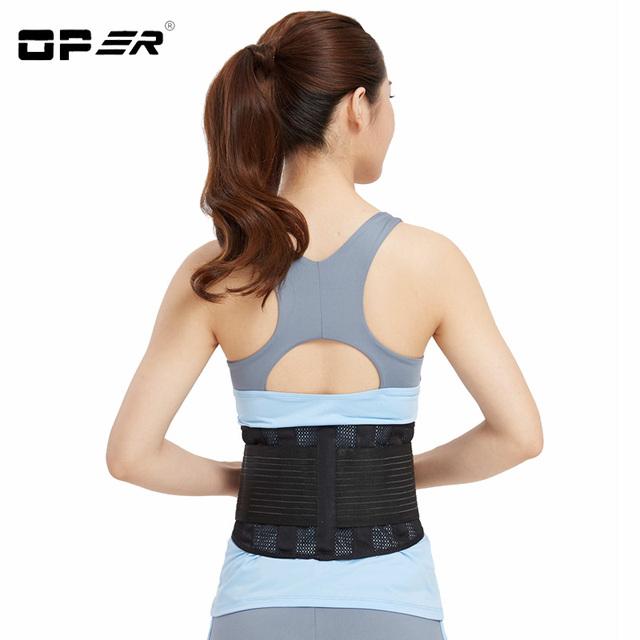 Oper apoio lombar alta elástica respirável malha de cuidados de saúde com bo-28 cinto musculação cinto de apoio da cintura de volta o apoio cinta de aço