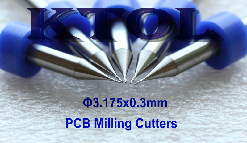 3.175*0.3MM Solid Carbide PCB Milling Bits Cutter Tool,Printed ...