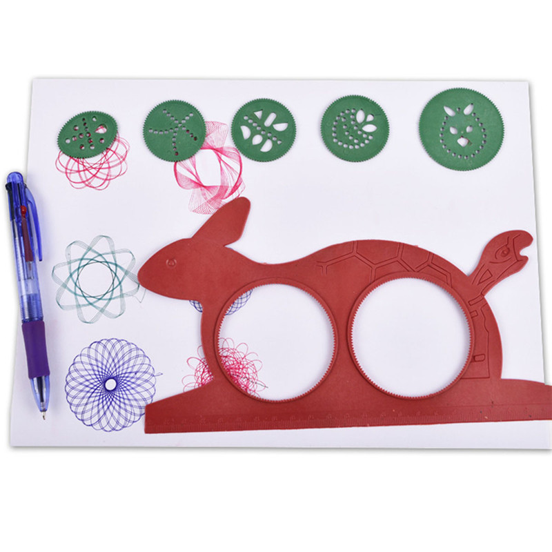 Drawing  Lovely Drawing Board Creativity For Children Spirograph Magic  Educational Children's Creativity Toy Turtle Rabbit Kids
