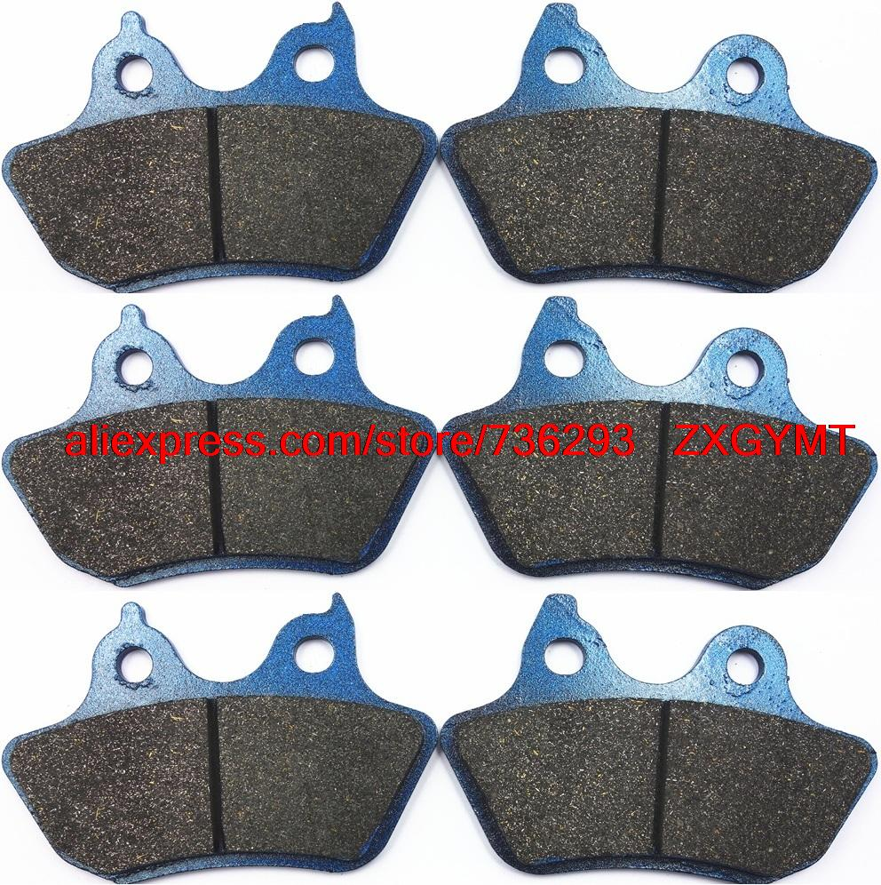 Motorcycle Semi-Metallic Disc Brake Pads Set fit Harley FLHTCUI 1450 Ultra Classic Electra Glide 2005 - 2006 6 pcs semi metallic motorcycle front