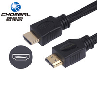 Choseal QS8113 HDMI Cable 24K Gold Plated Male To Male HDMI 2 0V 1M 3D 4K
