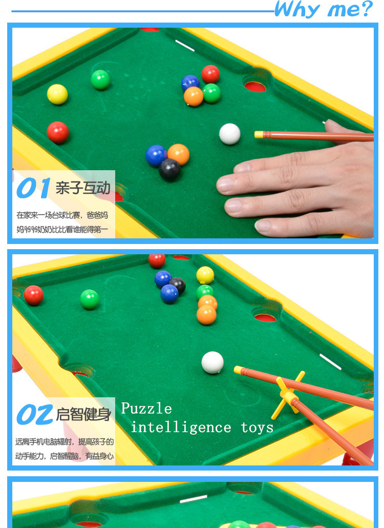 Plastic Mini Billiard Snooker Table Toy Children Interesting Entertainment  Sport Game Intellectual Toys Sports Balls Kids