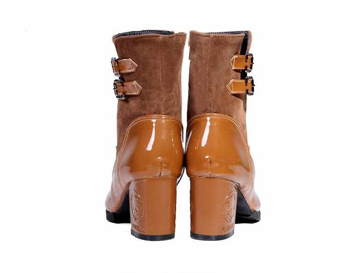 2017 Botas Mujer Büyük Boy 34-43 Kadın Ayakkabı Kadın Femininas Orta buzağı Çizmeler Botas Masculina Botines Mujer chaussure Femme T07