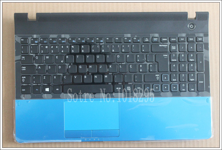 For samsung NP300E5A NP305E5C NP300e5x NP305E5A 300E5A 300E5C 300E5Z Portuguese PO laptop keyboard with case Palmrest Touchpad цена