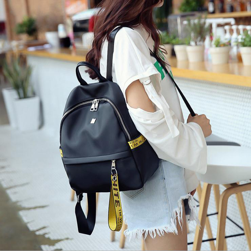 The Korean version of the nylon Oxford cloth double shoulder bag of new style waterproof and portable women students backpack. black waterproof oxford cloth thicken oxford multi funtional hardware toolkit shoulder strap tool bag backpack