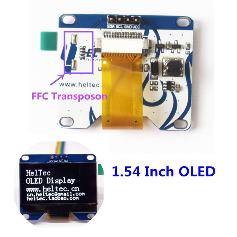 1.54 pouce blanc oled module IIC i2c 128*64 pour arduino