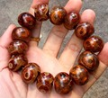 Vajrauana Tibet Old Dzi Bracelet Genuine Old Silk Agate Heaven Eyes Dzi Men's Bracelet Free shipping