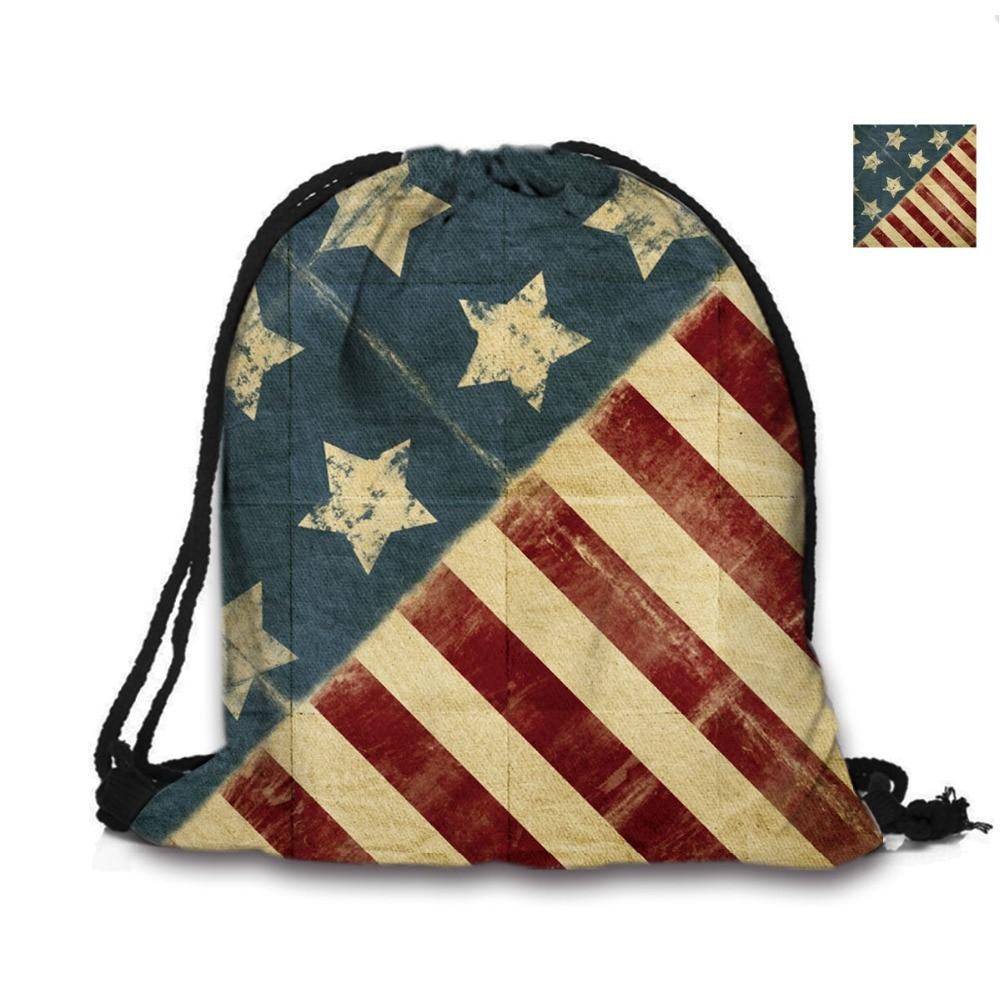 Custom Bag 3D ispis vrpca vreća američka zastava ruksak ispisuje - Ruksaci - Foto 3