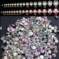Formato della miscela Yanruo di Cristallo AB Strass Artigianato Unghie artistiche della Parte Posteriore Piana di Colla Non Correzione In 3D Unghie artistiche FAI DA TE Decorazione Di Cristallo